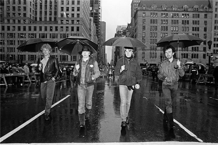 u2 on street in nyc st patricks parade no 2