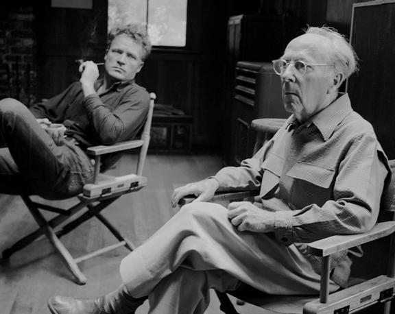 Brett & Edward Weston, Sitting, Garapata, 1200mm B&W negative, 08-03-1953, 40x50